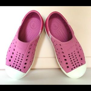 Pink Girls Native Shoes Child Size 10
